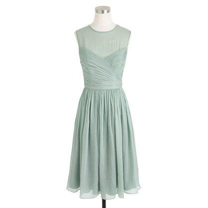 Clara dress in silk chiffon, dusty shale. J. Crew  https://www.jcrew.com/wedding/Wedding_Bridesmaid/silkchiffon/PRDOVR~09726/09726.jsp