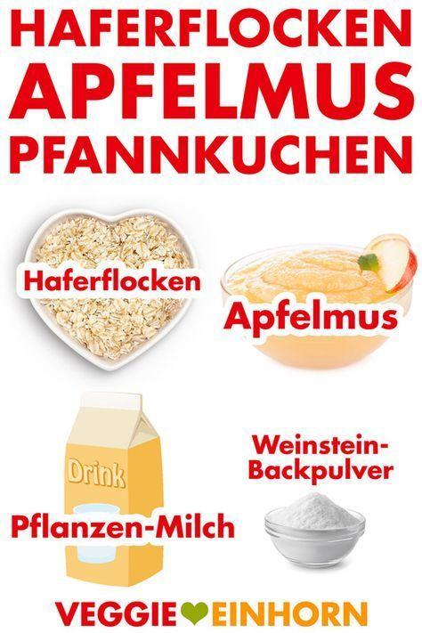 Gesunde Haferflocken-Apfelmus-Pfannkuchen | vegan – Ani's bunte Küche | gesunde Ernährung in Büro und Alltag