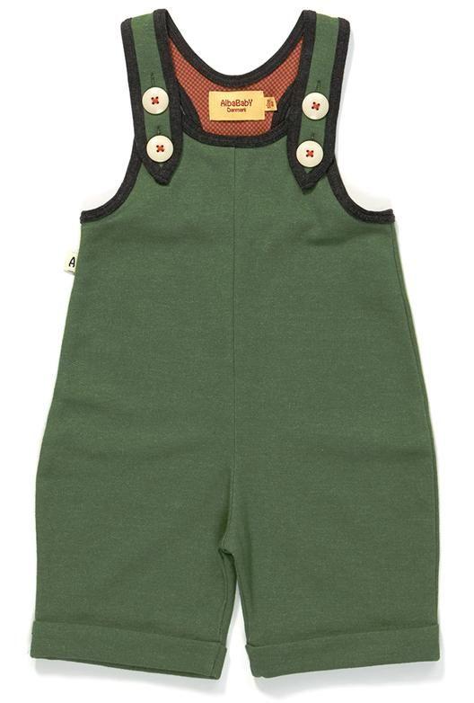 AlbaBaby Gary Short Crawlers - green Retro Baby Clothes - Baby Boy clothes - Danish Baby Clothes - Smafolk - Toddler clothing - Baby Clothing - Baby clothes Online