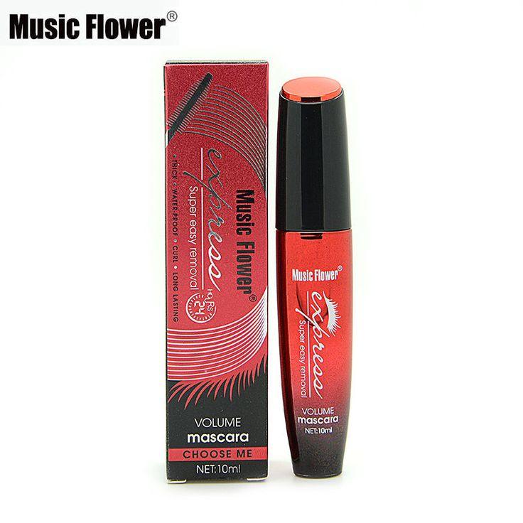 Brand Make Muziek Bloem Waterdichte 3D Mascara Eye Lashs Dikke Curling Volume Zwarte Mascara Wimper Langdurige Cosmetica