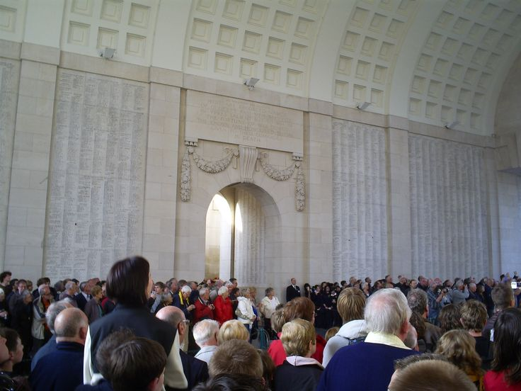 The Lost Post ceremony done every night at 8:00pm inside the Menin Gate, Ypres, Belgium