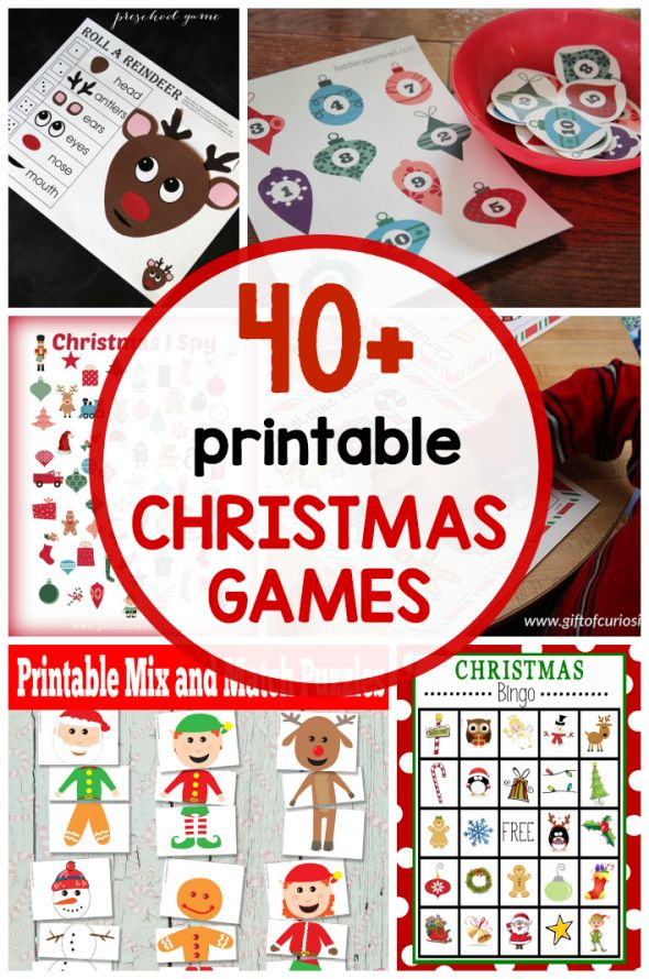 40+ free printable Christmas games for kids Preschool