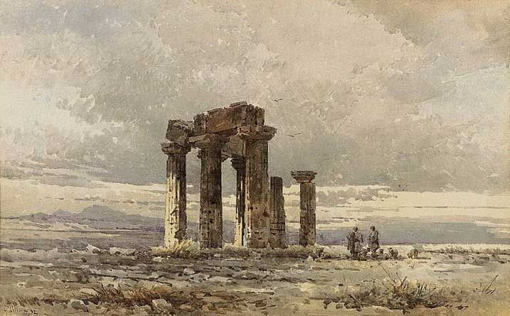Angelos Giallinas , Shepperds at the ruins