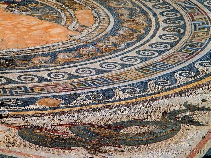 House of Dolphins in ancient Delos - Greece