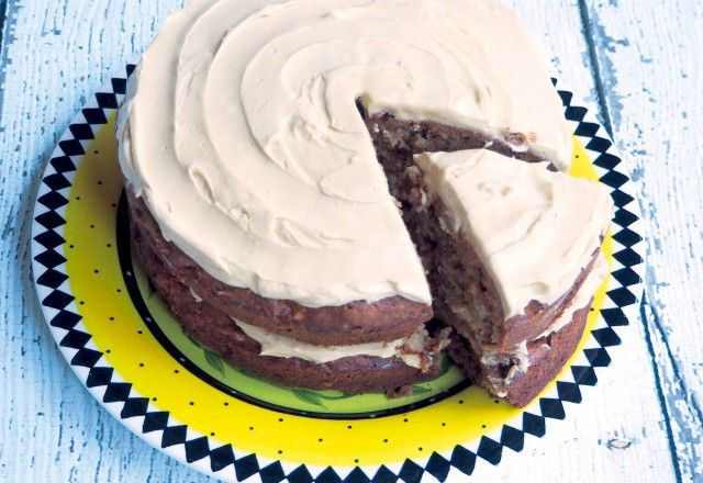 Thermomix Apple and Walnut Cake with Golden Syrup Icing