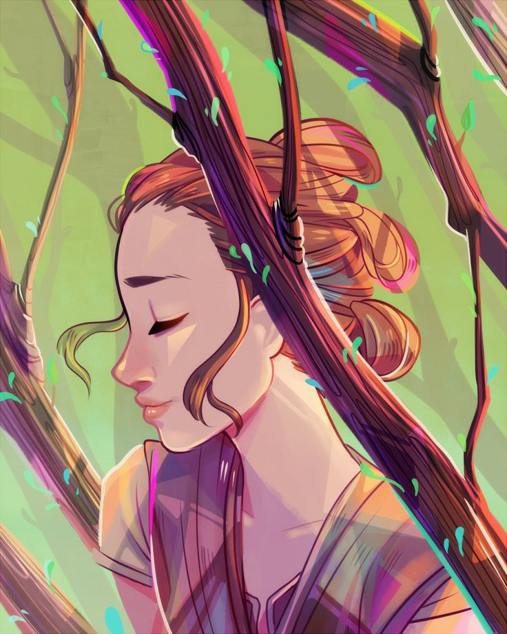 flowersilk: Rey - The Force Awakens i didn't think there was this much green in the whole galaxy…