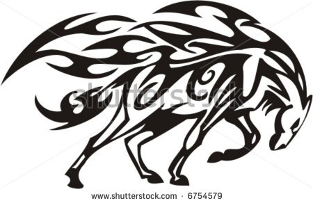 stock vector tribal horse vector illustration tattoo 39 d pinterest horse tattoo and. Black Bedroom Furniture Sets. Home Design Ideas