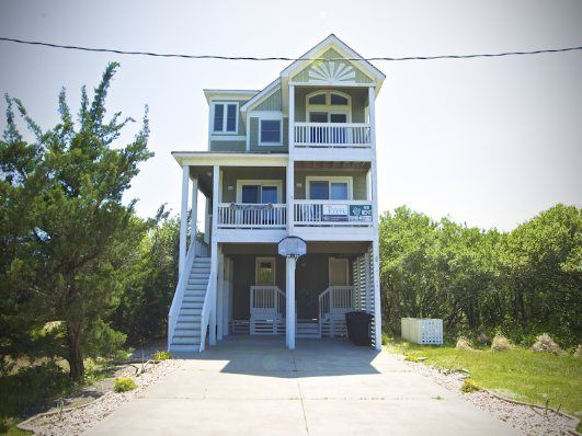 6 Bedroom Soundside Rental House in Avon, part of the Outer Banks of North Carolina. Includes Pool, Hot Tub, Hi-Speed Internet, Linens, Towels & Recreation ... - Images About Outer Banks Beach Houses On Pinterest