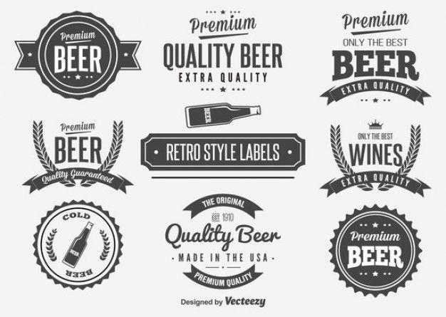 Emblemas da cerveja do vintage definir ilustração