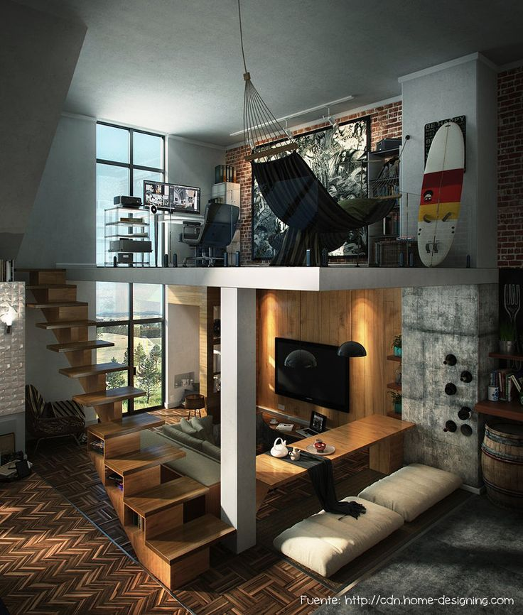 Un área de relax junto al home office. Todos nos merecemos un recreo!