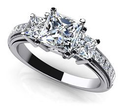 Dazzling Princess Cut Engagement Ring. 3 set is cool. Don't need the rest