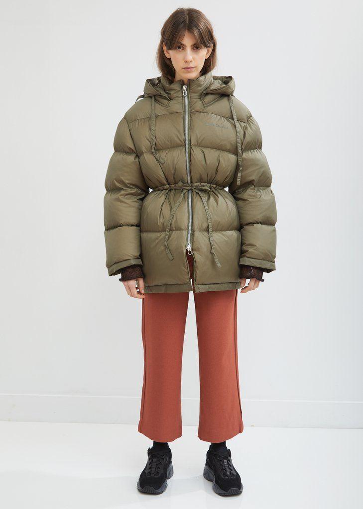 Short Hooded Puffer Jacket By Acne Studios La Garconne Jackets Puffer Jackets Cold Weather Jackets