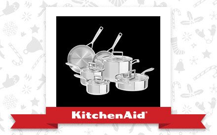 The Stainless Tri-Ply 10-Piece Cookware Set is the appliance of my holiday dreams. Declare and Share your favourite KitchenAid small appliance for a chance to win it!