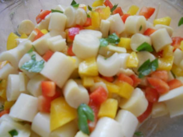 Costa-Rican Hearts of Palm Salad from Food.com:   From worldrecipes.com, this sounds quite delicious and easy to make.