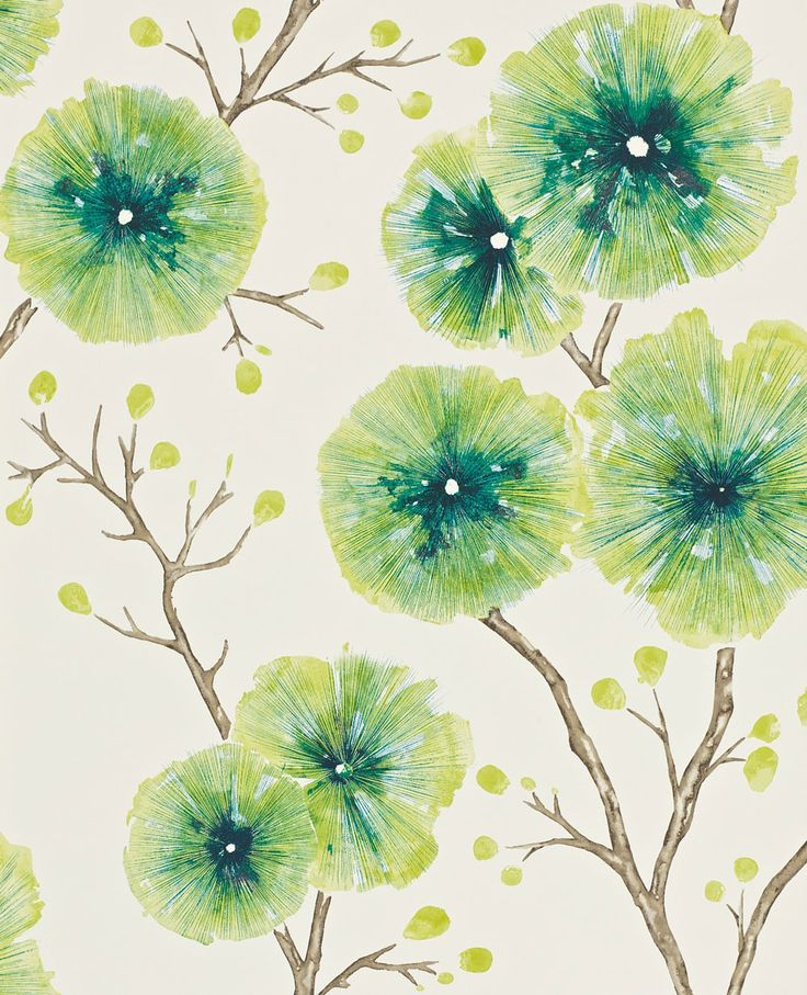 This exotic flower #wallpaper design is called Kabala.