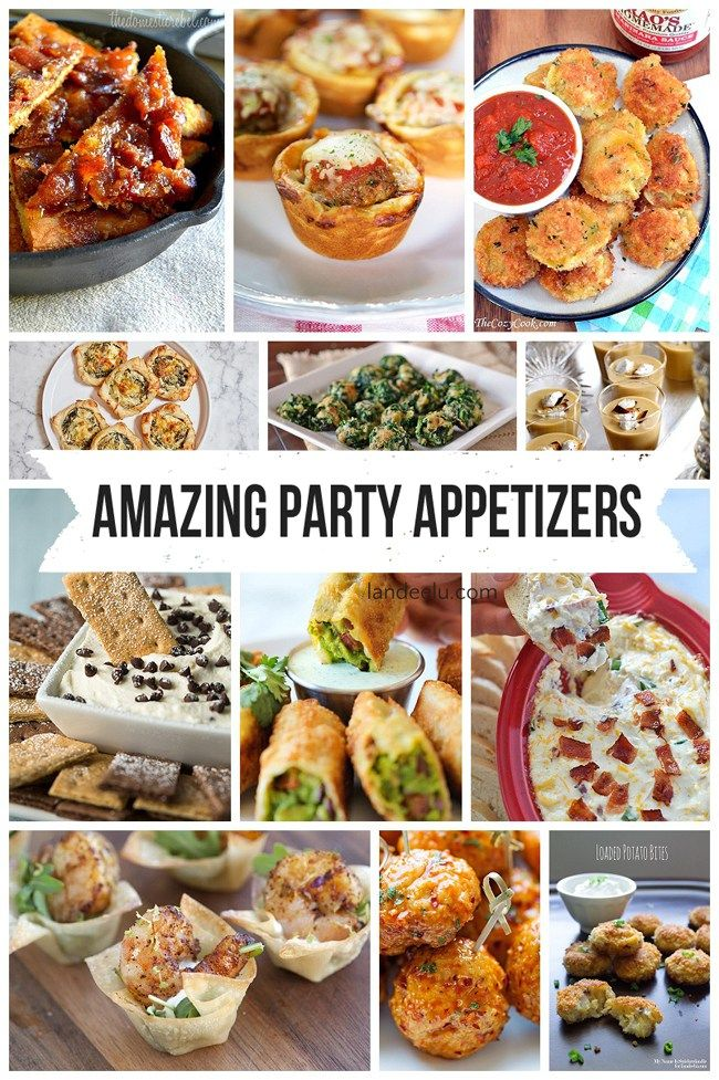 Amazing Party Appetizers... perfect for Christmas and New Year's Eve parties!