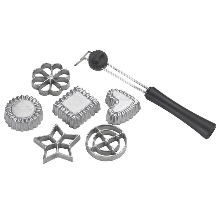 Nordic Ware 6-piece Swedish Rosette Timbale Set, Silver