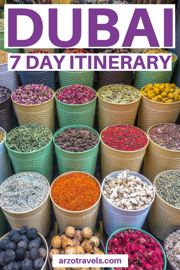 7 Day Itinerary Dubai Places to