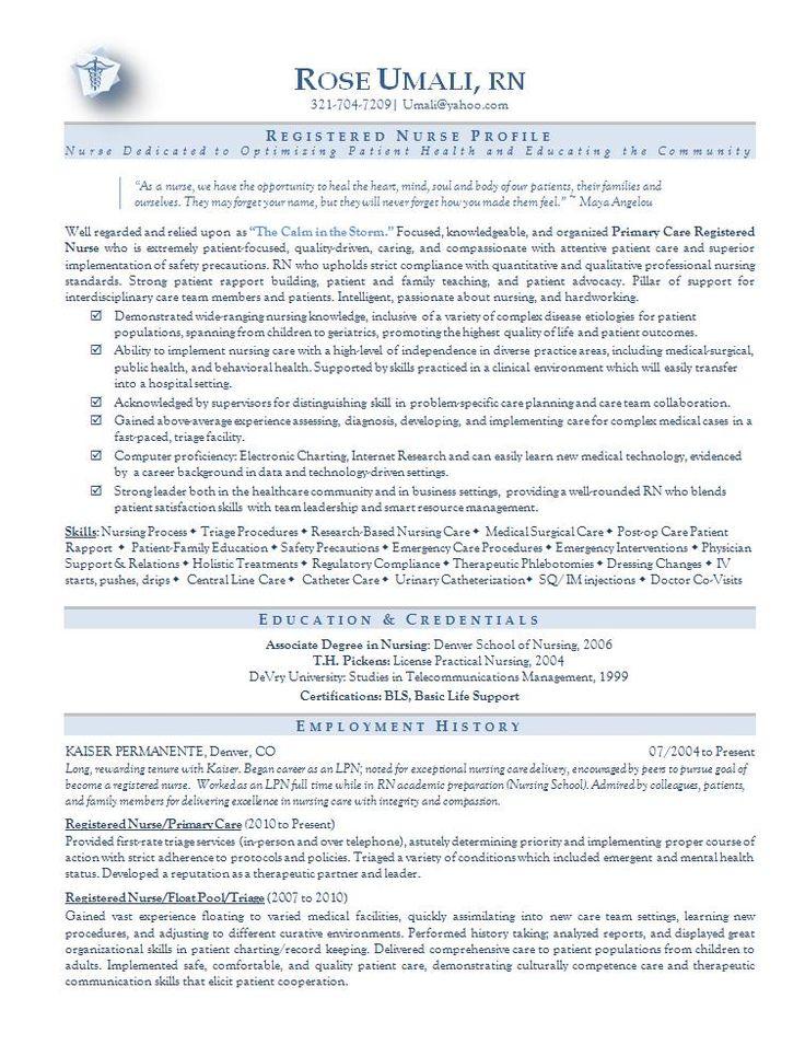 Nursing resume sample Best Nursing resume sample nursing