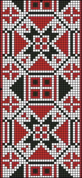 Cross stitch chart, folk style
