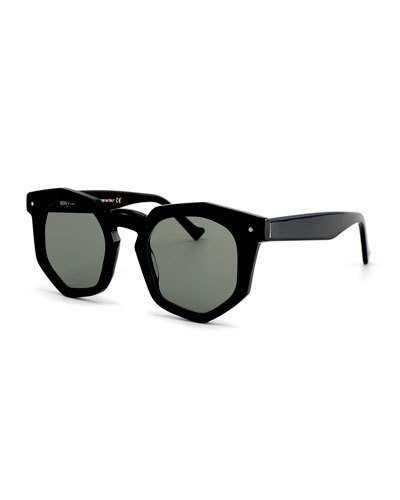 Grey Ant Composite Geometric Sunglasses, Black - $345.00