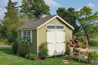 Williamsburg Colonial Garden Shed | Shed Kit | Storage Shed www.cottagekits.com