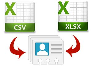 Import Contacts From an Excel & CSV to vCard