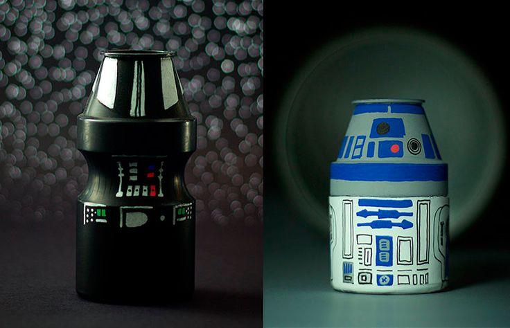 Designer brasileiro transforma potes vazios de Yakult em personagens de Star Wars