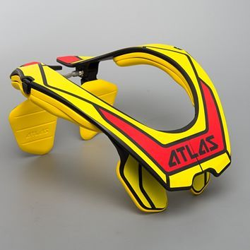 Atlas Air Protective Neck Brace Yellow & Red