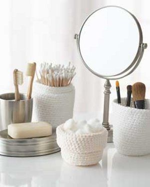 This Crocheted Bathroom Set from Lily Sugar n' Cream is made with scented yarn, so it helps keep your bathroom organized and smelling clean