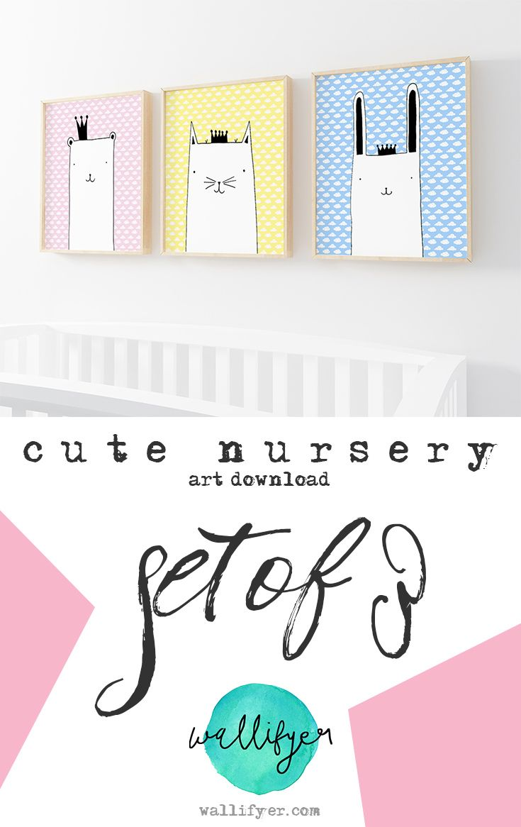 Get Your Dream Nursery Right Away Wall Art Makes A Big