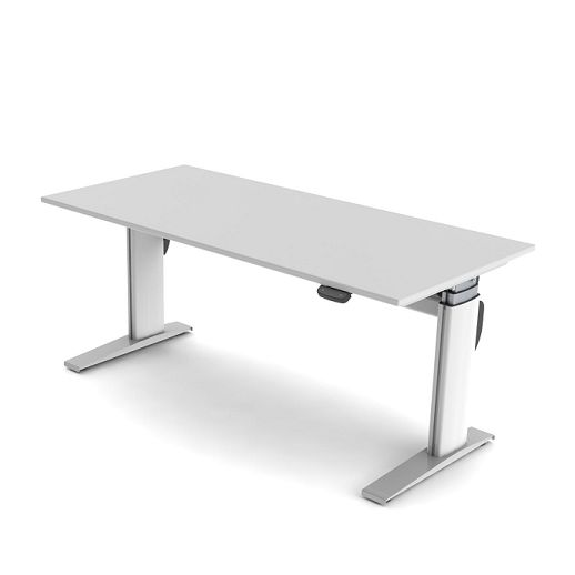 Sit 'n' Stand Electric Height Adjustable Desk - The Sit 'n' Stand electric height adjustable office desk is the perfect answer for creating a highly versatile working environment.  The motorised movement provides a desk height surface which rises from sitting to standing height as it glides from 655mm through to 1315mm above floor level with its motorised movement.