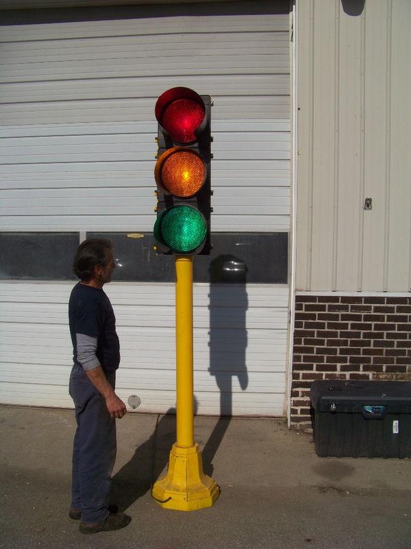 Vintage Cast Iron Chicago Traffic Signal Stop Light