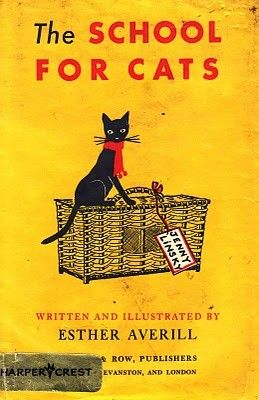 a Cat Club picture book: Jenny Linsky, a small black cat who always wears a red scarf. 1947 Averill