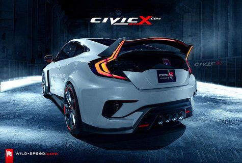 Sang monster hatchback Honda Civic Type-R bereinkarnasi dalam wujud coupe yang makin seksi!