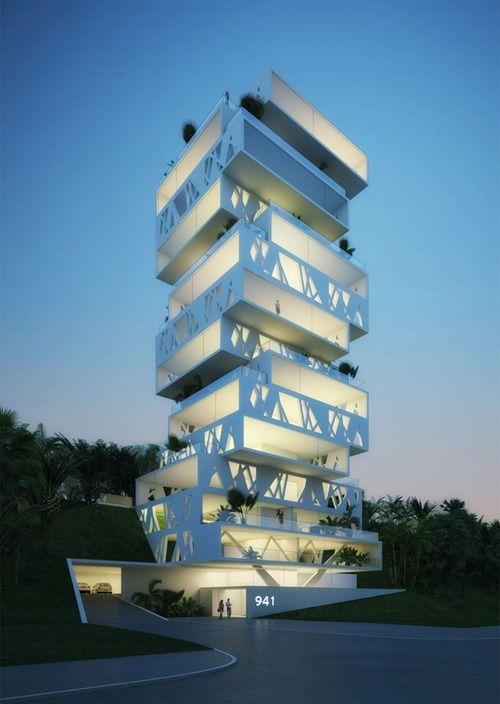 Unusual modern architecture #Design. Architectural visualizations. CG exterior visualizations. 3D images.