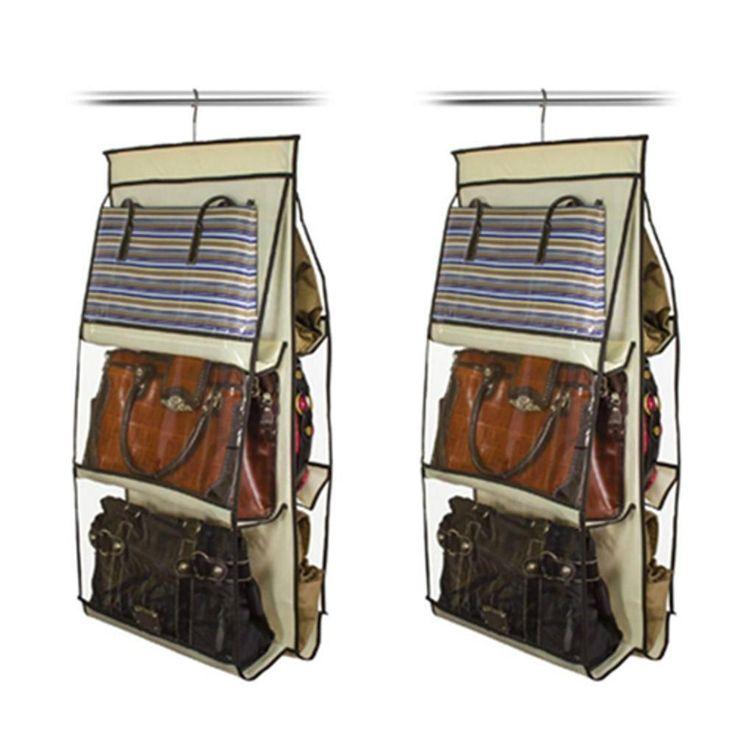 Organizador Para Bolsas Bege - Cabide - 2 - Shoptime.com