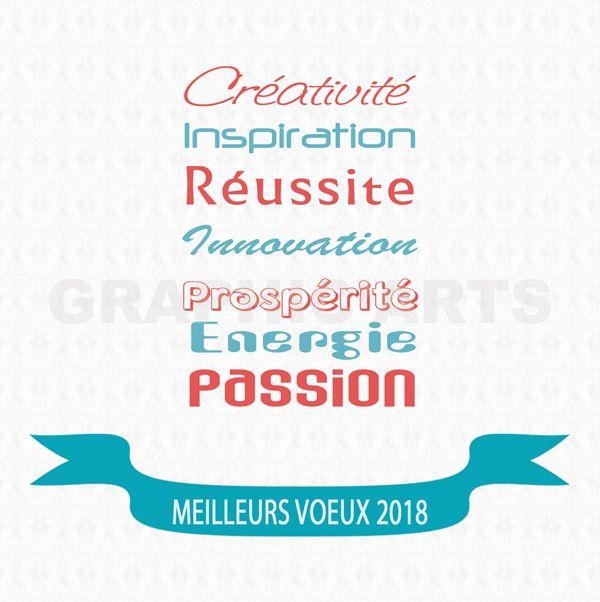 Carte De Voeux 2018 Resolutions Carte De Voeux Carte De Voeux
