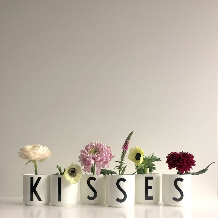 KISSES for Valentines! Give a personal cup for the favorite drink.