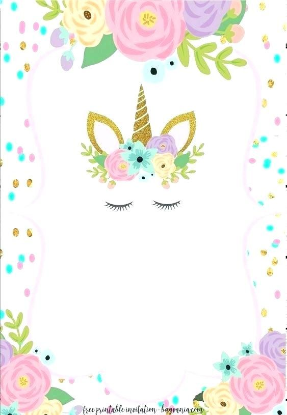 unicorn birthday invitations with printable birthday