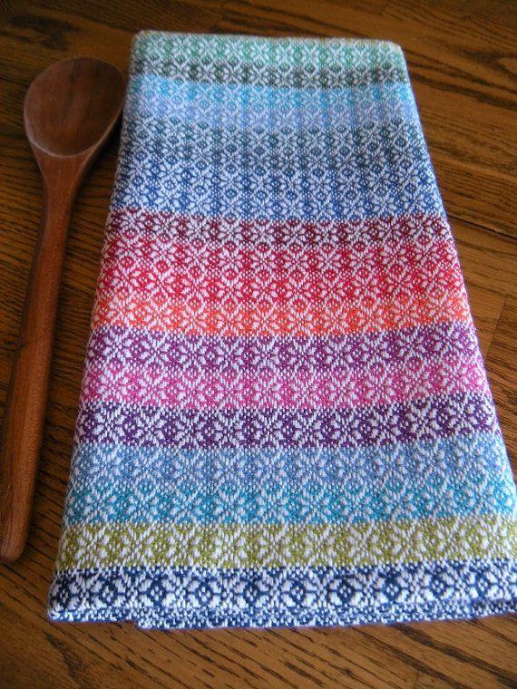 Handwoven Kitchen Towel, Guest Towel, Hand Woven Cotlin Towel, Woven Tea  Towel, Swedish Kitchen Towel, Nordic Stars Towel, Rainbow Towel