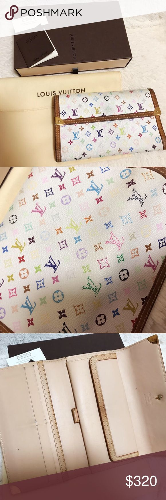 Louise Vuitton Monogram multicolor Wallet It's very good condition! It comes with dust bag and the box.  Serial number is on 4th picture!! Louis Vuitton Bags Wallets