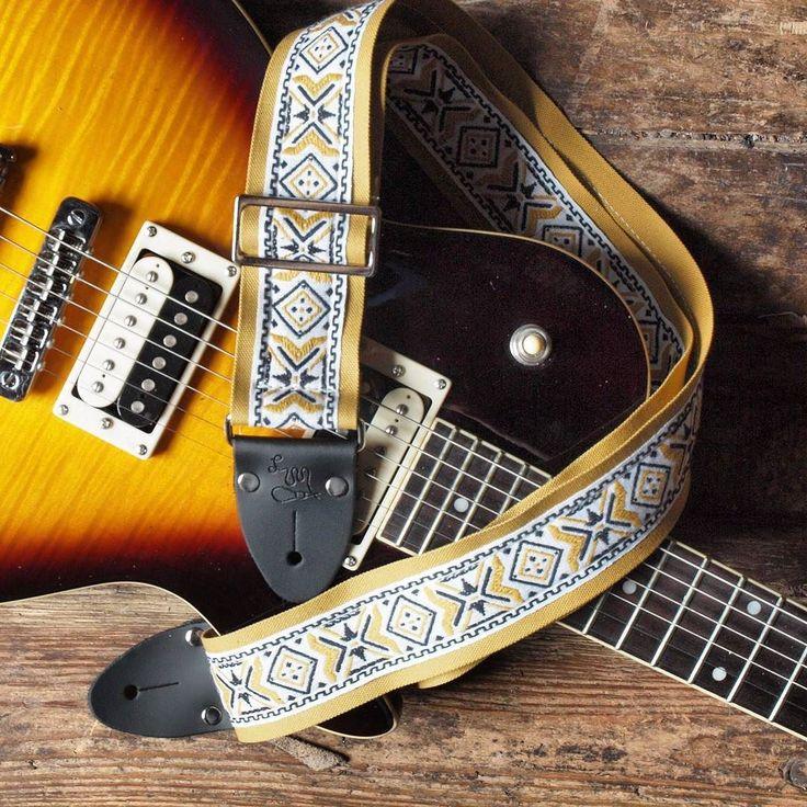 Lookin' good Golden Boy.  The Golden Boy Guitar Strap  // www.LMproducts.com  #LMproducts #MadeInUSA #Est1975  #guitar #guitarstrap #guitarist #electricguitar #guitarstraps #acoustic #acousticguitar  #musician #musicianlife #gear #gig #music #bass #bassguitar #bassist