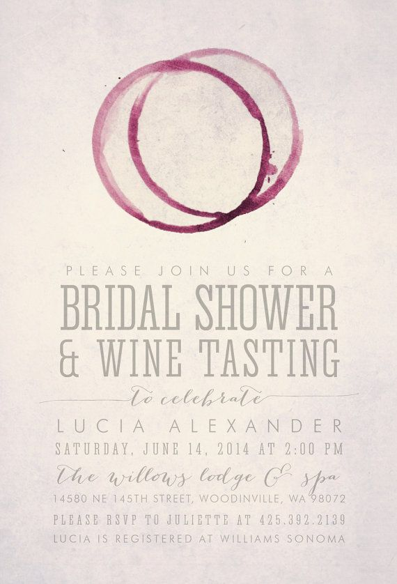 WINE TASTING Bridal Shower Invitation Printable by HENANDCO