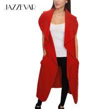 JAZZEVAR 2016 новые весна Вассерфаль Каминные женская полушерстяные жилет Повседневная длинные пальто шанца Верхняя Одежда свободную одежду с поясом(China (Mainland))