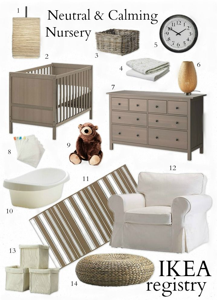 Neutral and Calming Nursery - Everything from IKEA! - great inspiration even if you dont get it all from ikea