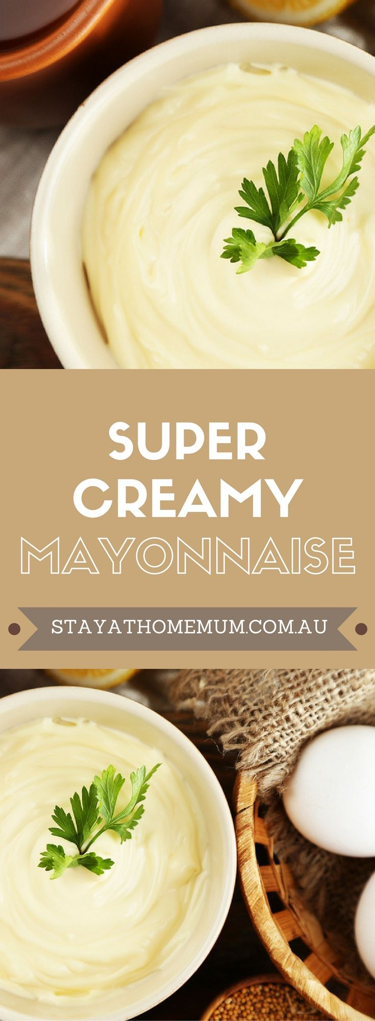 We love homemade mayonnaise, particularly when it's this Super Creamy Mayonnaise. Not only does this mayonnaise have a fantastic flavour and texture, it also ends up being much better for you than store-bought mayonnaise. #mayonnaiserecipe #recipe #homemademayonnaise
