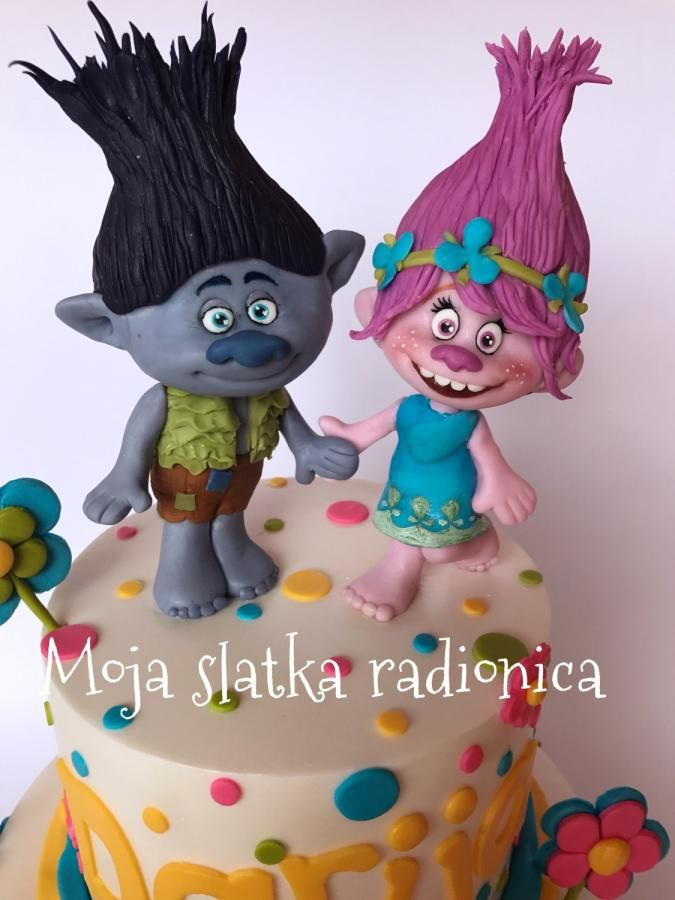Cake Decoration Trolls : The 65 best images about Troll Cakes on Pinterest Movie cakes, Branches and Fondant toppers