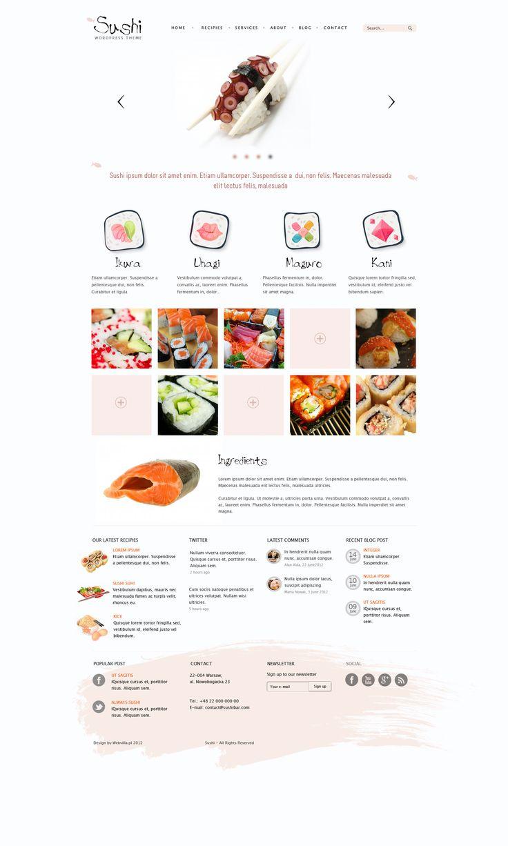 Sushi - wordpress theme by *webvilla on deviantART