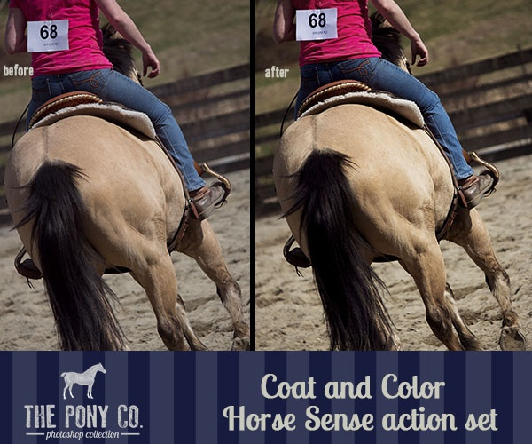 Before and After Buckskin Photoshop Action